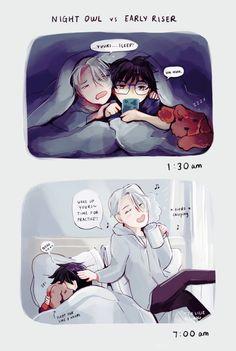 Tag yourself I'm Yuri>>same>>yup Me Anime, I Love Anime, Manga Anime, Yuri On Ice Comic, Viktor Nikiforov, Yuri Katsuki, Animes On, ユーリ!!! On Ice, Another Anime