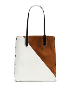 Scott Two-Tone Tote Bag, Coco by Elizabeth and James at Neiman Marcus.