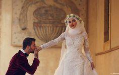 #hijabi #bride #hijab #bridal #white