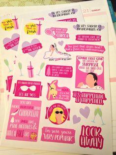 Bridesmaids movie inspired sticker kit by OhHeyStickerCo on Etsy