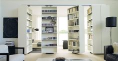Organize and divide the space with these swivel bookcases! By @albedmilano Find…