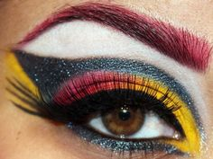 Crazy makeup...love the colors