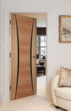 Palma Oak Bespoke This Beautiful Door Will Add An Exotic Accent To You Modern Home