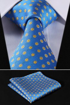 Cheap handkerchief set, Buy Quality mens ties directly from China square tie Suppliers: Party Wedding Classic Pocket Square Tie Blue Yellow Floral Silk Woven Men Tie Necktie Handkerchief Set Tie And Pocket Square, Pocket Squares, Antler Crafts, Mens Attire, Tie Shoes, Suit And Tie, Jacquard Weave, Silk Ties, Bow Ties