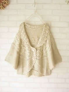 a crochet/knit hybrid bed jacket...