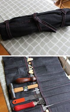 Heavy Duty Tool Roll   10 DIY Anniversary Gifts for Him   Easy Handmade Gifts That Will Melt His Heart by DIY Ready at http://diyready.com/10-diy-anniversary-gifts-for-him/