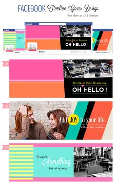 Facebook Timeline Creative Cover idea 3  sets