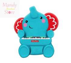 """mrscrocker24store: """" Fisher-Price Elephant Piano. Product Description Fisher Price Elephant Piano in Blue with 4 animal sounds, 9 demo melodies, and volume control. Ages 2+. This toy allows your baby to play and recognize different elements of music...."""