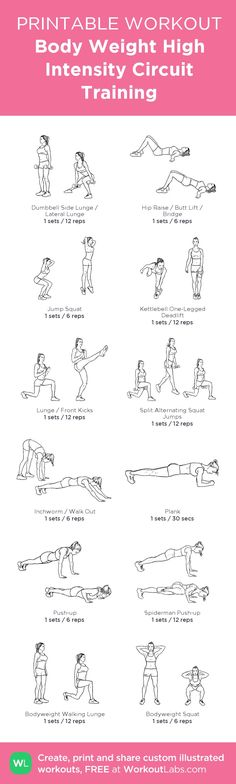 Full Body Workout: Body Weight / High Intensity Circuit Training (HIIC). 1-3 rounds with 30 second rest. You dont need the dumbells