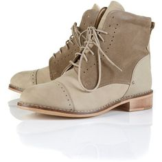 ALE Brogue Lace Up Worker Boots ($90) I really really want these boots!!!