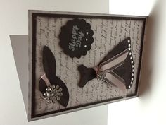 Girly card made with ctmh for always paper packet