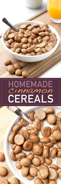 homemade cereal: spelt flour, b. soda, b. powder, cinnamon, b. sugar, almond milk, oil