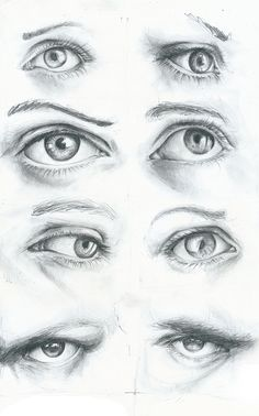 Eyes and Lips practice by Matthias Robert, via Behance