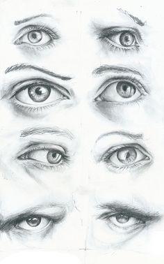 Eyes and Lips practice by Matthias Robert, via Behance