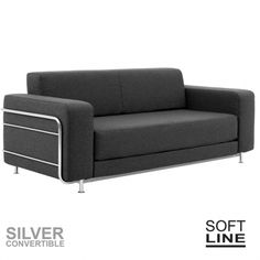 SILVER, a convertible sofa bed for 2, designed for small spaces, comfortable, timeless, in true Scandinavian style, by Softline