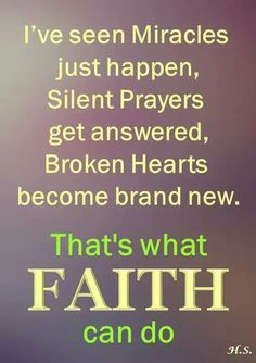 You have to have FAITH...born again, filled with the power of the Holy Spirit and a personal relationship with Jesus.