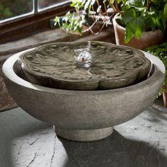 Campania Cast Stone Flores Garden Terrace Outdoor Fountain Alpine Stone (Main Image) - FT-170-AS