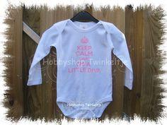 baby rompertje keep calm roze glitters tekst