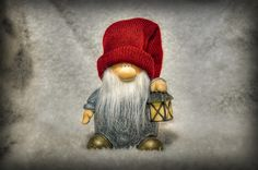 The tomte, nisse or tomtenisse is a mythological creature from Scandinavian folklore, typically associated with the winter solstice and the Christmas season. It is generally no taller than three feet, and has a long white beard and wearing colorful clothes. It is known as a gift bearer and is considered the Swedish and Norwegian version of Father Christmas.