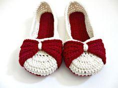 Arco zapatillas zapatillas de Ballet de por jaysboutiquecrochet
