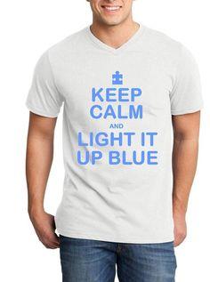 Keep Calm Light it Up Blue Women/'s Tank Top Autism Awareness Month Tank Tops
