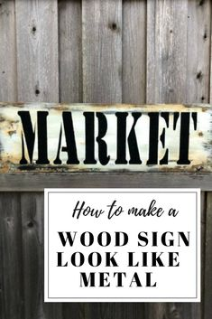 How I Made A Farmhouse Market Sign Look Like Metal #dododsondesigns #farmhousemarketsign #diysign #marketsign