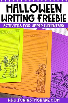 Check out this post for fun Halloween activities to do in the upper elementary classroom that also teach. Includes some free writing prompts and a stem planning sheet as well as lots of other ideas for Halloween fun.