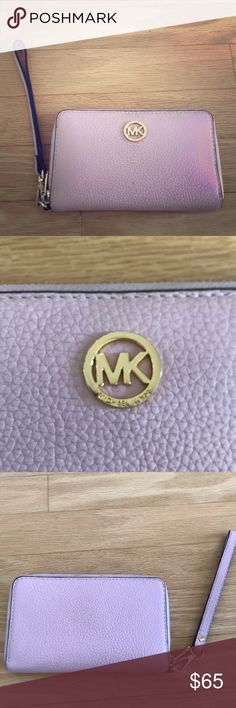 Michael Kors Wristlet Pink leather Michael kors wristlet. Authentic, EUC. Only used a handful of times. Michael Kors Bags Clutches & Wristlets
