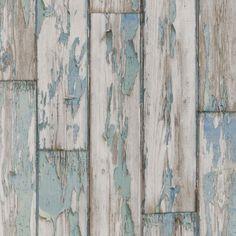 Powder Bath Wallpaper - Clarke and Clarke Peeling Plank -  Mineral Color