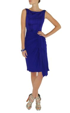 Karen Millen Pleated Jersey Dress Blue Karen Millen Solid Color Dresses 2012 latest edition hot sale online at attractive is one of the hot choice for you who pursuit the latest and most trendy brands.