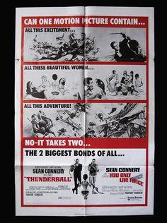 "2002 Vintage JAMES BOND 007 /""YOU ONLY LIVE TWICE/"" MINI POSTERS Art Plate Litho"