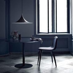 Semi Pendant, Gubi Chair, Gubi Table from Gubi Decor, Minimalism Interior, Interior, Gubi Chair, Gubi Semi Pendant, Dining Table, Pendant Lamp, Chair, Danish Design