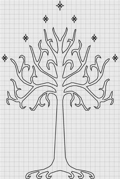 free tree of gondor crosstitch | Cross-stitch pattern: Tree of Gondor