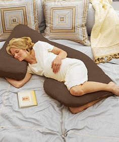 Take a look at this Espresso Cozy Cuddler Pregnancy Pillow by Today's Collection on #zulily today!
