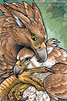 Gryphon Hug by Nambroth on deviantART