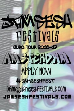 JamSesh Festivals hits Amsterdam in October on the #JAMSESHFEST EuroTour'16 covering 22 cities in 33 days across Europe and onto 2016/17 AUS & NewZealand Tour offering ARTISTS discovered along the way an opportunity to join the tour group across the EU, all the way down under and beyond! APPLICATIONS NOW OPEN for artists, vendors & volunteers at JAMSESHFESTIVALS.COM to participate in tech support, coordinating, promoting or to donate a venue or exhibition space email…