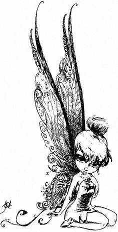 Tinkerbell Sketch by ~DaRK-Hellequin on deviantART