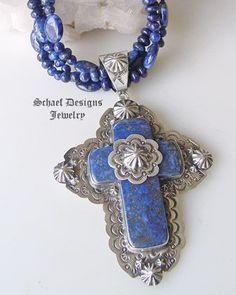Lapis & Sterling Silver Cross Pendant