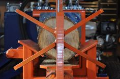 6 way wood splitter wedge and log cradle