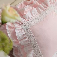 Items similar to Luxury Pink Cotton Lace Victorian Bridal French Shabby Love Ruffle Euro Sham Cushion Cover Accent Pillow Case on Etsy Shabby Chic Pillows, Shabby Chic Pink, Shabby Chic Homes, Shabby Chic Style, Shabby Chic Furniture, Shabby Chic Decor, Chic Bedding, Burlap Pillows, Owl Pillows