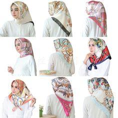 2 Piece Jersey Stretchy Hijab Ladies Adult Two Piece Scarf High Quality Islamic