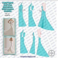 Tremendous Sewing Make Your Own Clothes Ideas. Prodigious Sewing Make Your Own Clothes Ideas. Evening Dress Patterns, Wedding Dress Patterns, Dress Sewing Patterns, Doll Clothes Patterns, Clothing Patterns, Barbie Clothes, Sewing Clothes, Diy Clothes, Pattern Draping