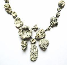 Eva Tesarik. Collier: Oceanis Nox, 2012. Silver, stones and shells covered with coralline algae. 26 x 18 x 3 cm.