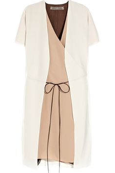 Reed Krakoff, layered silk-crepe wrap dress.