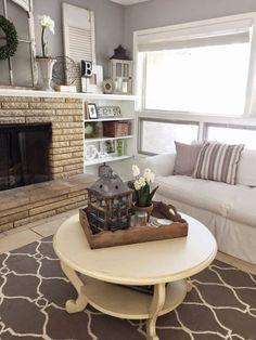 46 Modern Farmhouse Living Room Color Fireplaces - SILAHSILAH.COM