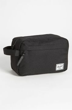 Herschel Supply Co. 'Chapter' Toiletry Case. An internal mesh organizer and exterior zip pocket provide convenient extra storage to a rugged, leather-detailed toiletry case lined in signature, coated fabric for easy cleaning.