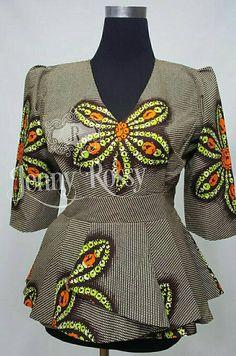 Vêtements africain africain haut peplum imprimé africain de