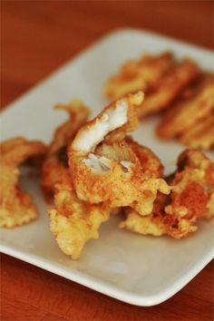 tempura filet de lieu noir