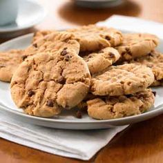 Turn ordinary peanut butter cookies into special cookies with a hint of cinnamon and chocolate.