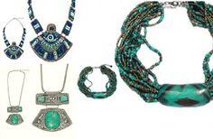 Regal Gold: De la Paris o colectie de accesorii fashion,pe cat... Turquoise Necklace, Jewelry, Jewellery Making, Jewels, Teal Necklace, Jewlery, Jewerly, Jewelery, Jewel